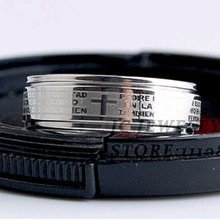 ◆聖書十字架回転シルバーリング◆21号(リング(指輪))