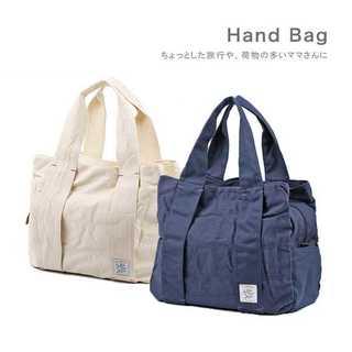【残り僅か】 ★2カラー キャンパス生地ハンドバッグ★(ハンドバッグ)