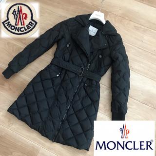 モンクレール(MONCLER)のモンクレール正規品 ブラックロングコート サイズ1(ダウンコート)