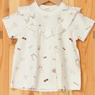 ジェラートピケ(gelato pique)のジェラートピケ ガールズモチーフ柄 キッズ Tシャツ 90-100㎝(Tシャツ/カットソー)