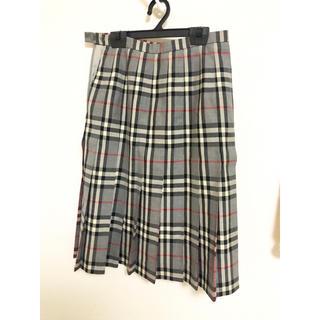 バーバリー(BURBERRY)のBurberry バーバリー チェックプリーツスカート(ひざ丈スカート)