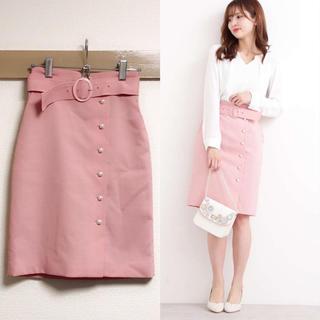 PROPORTION BODY DRESSING - プテラノブッチャーパール付きタイトスカート