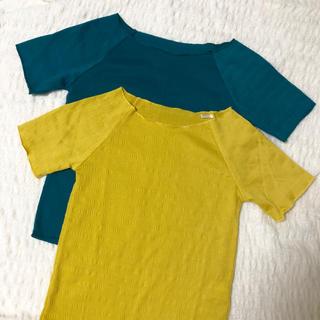 シマムラ(しまむら)のカラートップス 2点セット(Tシャツ(半袖/袖なし))