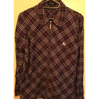 BURBERRY - バーバリー チェック ジップ シャツ ジャケット