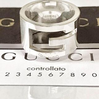 Gucci - ブランデッドオープンGリング10号