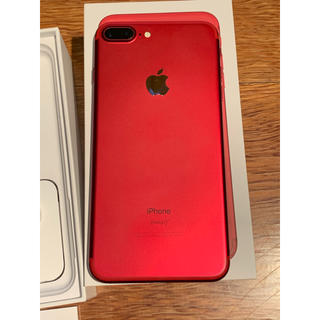 Apple - 送料込 iPhone 7 Plus Red 128 GB SIMフリー RED