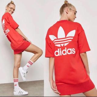 アディダス(adidas)の新品 アディダス ワンピース トレーナー 完売品(ひざ丈ワンピース)