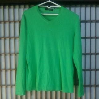 トゥモローランド(TOMORROWLAND)のTOMORROWLAND tricot 薄手 ニット Lサイズ セーター 古着屋(ニット/セーター)