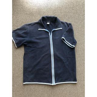 ビームス(BEAMS)のBEAMS/半袖フルジップシャツ(M)/ライトネイビー(シャツ)
