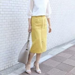 ノーブル(Noble)の今季 ダブルクロスフープジップタイトスカート(ひざ丈スカート)