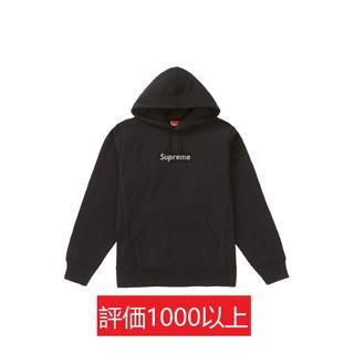 シュプリーム(Supreme)のSwarovski Box Logo Hooded Sweatshirt 黒M(パーカー)