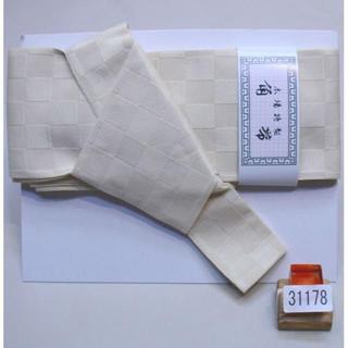 角帯 メンズ 結び不要 ワンタッチ 日本製 ポリ 夏 ベージュ NO31178(浴衣帯)