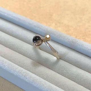 ヨンドシー(4℃)の4℃  シルバー リング スモーキークオーツ シトリン(リング(指輪))