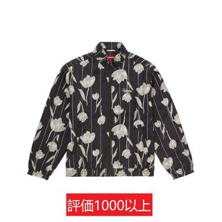 シュプリーム(Supreme)のSupreme Floral Silk Track Jacket 黒M(ブルゾン)