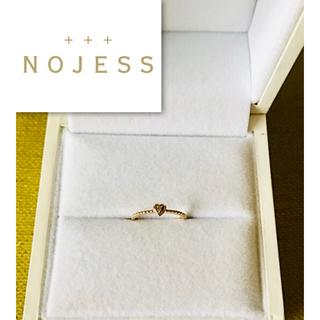 ノジェス(NOJESS)の美品:18kハートピンキーリング(リング(指輪))