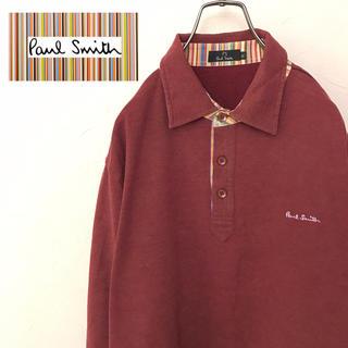 Paul Smith - 【激レア】ポールスミス☆刺繍ロゴ入りゆるダボビッグ長袖ポロシャツ90s
