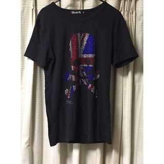 ディアブロ(Diavlo)のdiavlo ドクロ キラキラ シャツ メンズ ブラック(Tシャツ/カットソー(半袖/袖なし))