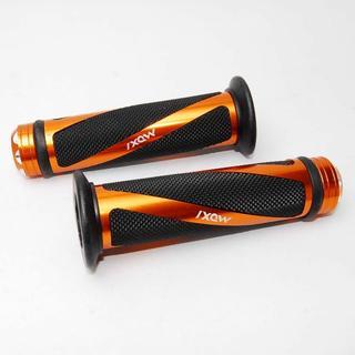 バイクカスタム用 トルネード ハンドルグリップ オレンジ アルミ 左右セット(パーツ)