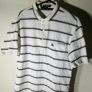 バーバリー(BURBERRY)のバーバリー・ロンドンのハーフスリーブ、ボーダーポロシャツ(ポロシャツ)