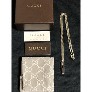 Gucci - GUCCI グッチ ネックレス シルバー Gカット 正規品 喜平 未使用