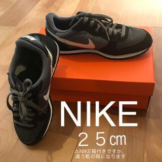 NIKE シューズ 25センチ 黒・グレー(スニーカー)