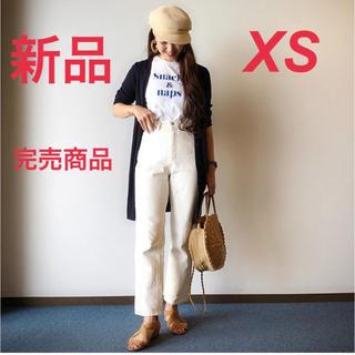 ジーユー(GU)の【新品タグ付】完売商品 GU ハイウエストストレートジーンズ XS ホワイト(デニム/ジーンズ)