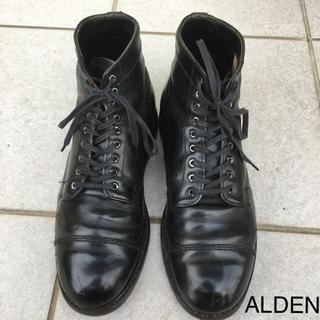 オールデン(Alden)のオールデン alden ストレートチップブーツ 黒 カーフ US6.5位(ブーツ)