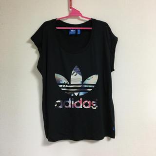 adidas - 美品 アディダス トレフォイル スーパースター ロゴ シャツ