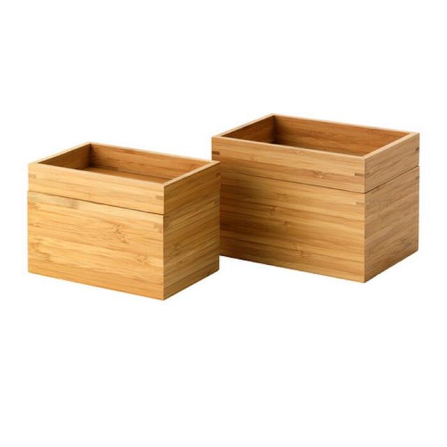 IKEA(イケア)のIKEA DRAGAN バンブー 小物入れ バスルームセット 2点, インテリア/住まい/日用品のインテリア小物(小物入れ)の商品写真