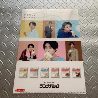 ヤマザキセイパン(山崎製パン)の山崎賢人とヤマザキ 非売品クリアファイル 新品未使用(男性タレント)