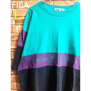 フィラ(FILA)のFILA フィラ ビッグシルエット tシャツ 5分袖 おしゃれ 可愛い かわいい(Tシャツ/カットソー(半袖/袖なし))