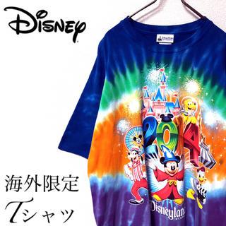 ディズニー(Disney)の【00s】Disney 古着 トレンド タイダイ プリント Tシャツ(Tシャツ/カットソー(半袖/袖なし))