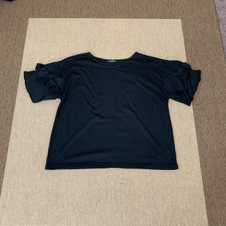 シマムラ(しまむら)のMSさま専用☆しまむら大きなサイズ 新品未使用 袖3段フリルカットソー(カットソー(半袖/袖なし))