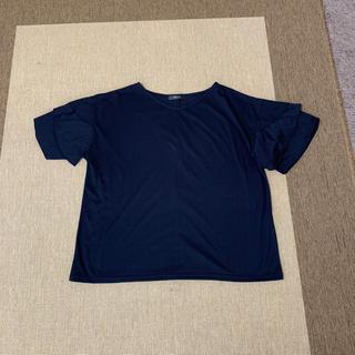 シマムラ(しまむら)のしまむら大きなサイズ 新品未使用 袖3段フリル カットソー(カットソー(半袖/袖なし))