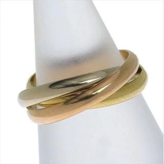 カルティエ(Cartier)のCartier カルティエ K18 トリニティリング 指輪 #50(リング(指輪))