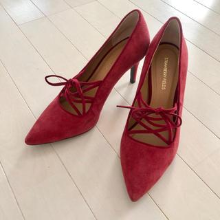 ストロベリーフィールズ(STRAWBERRY-FIELDS)のストロベリーフィールズ赤レースアップ編み上げパンプス靴ヒール(ハイヒール/パンプス)