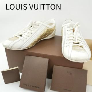 ルイヴィトン(LOUIS VUITTON)のLOUIS VUITTON ルイヴィトン 37 1/2 ゴールド/白 スニーカー(スニーカー)
