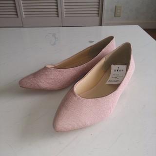 シマムラ(しまむら)の未使用 パンプス ピンク Lサイズ(ハイヒール/パンプス)