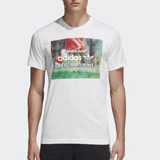 アディダス(adidas)の新品 アディダス メンズ Tシャツ Oサイズ ホワイト(Tシャツ/カットソー(半袖/袖なし))