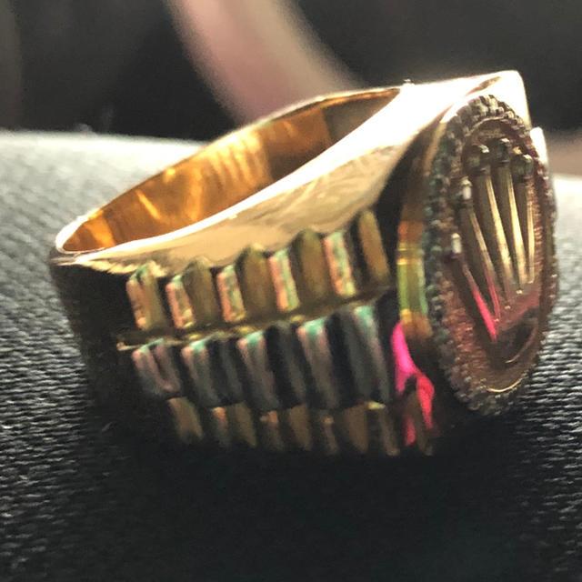 14Kイエローゴールドリング メンズのアクセサリー(リング(指輪))の商品写真