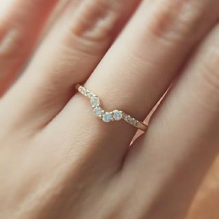 agete - モアッサナイト ダイアモンド*ゴールド*リング*指輪