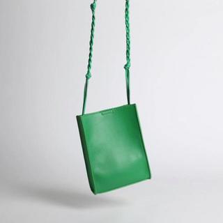 イエナ(IENA)の新品 スクエア ビタミンカラー グリーン レザー調 ショルダーバッグ(ショルダーバッグ)