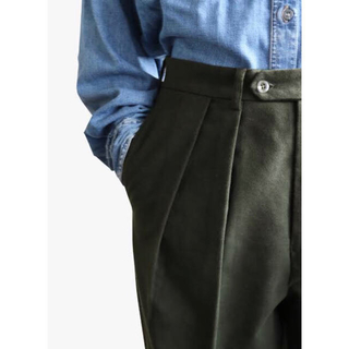 COMOLI -  NEAT ニート Moleskin〈brushed〉WIDE  pants