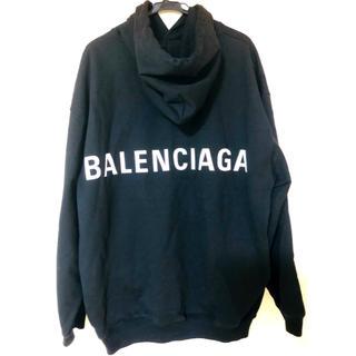 バレンシアガ(Balenciaga)のBALENCIAGA/バレンシアガ バックロゴパーカー 美品 正規品(パーカー)
