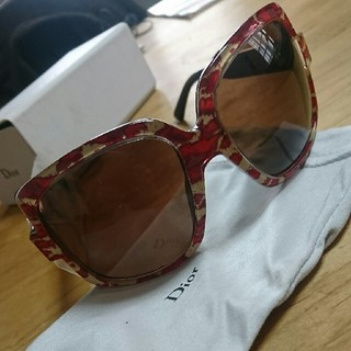 99f9c204367b09 クリスチャンディオール(Christian Dior)のChristianDior ✨サングラス (赤豹柄)(