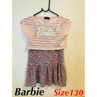 バービー(Barbie)のBarbie バービー 女の子 ワンピース 130(ワンピース)
