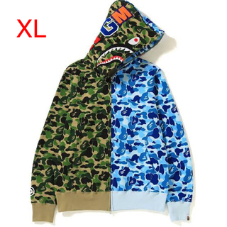 BAPE ABC SEPARATE SHARK FULL ZIP HOODIE