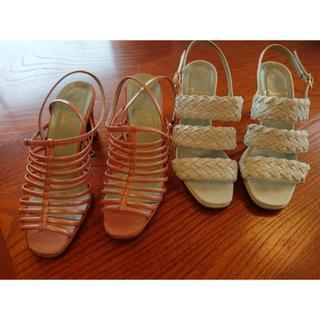 クリスチャンディオール(Christian Dior)のクリスチャンディオール 2つセット夏用 オシャレ 22.5(ミュール)