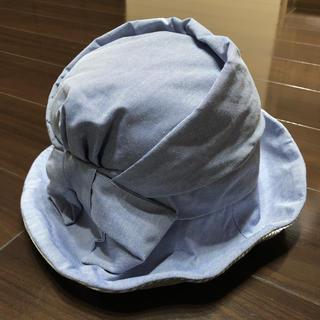 coen - coen レディース 帽子 ハット 折り畳み 日焼け防止 水色