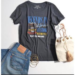 シップスフォーウィメン(SHIPS for women)のSHIPS ビンテージ加工Tシャツ(Tシャツ(半袖/袖なし))